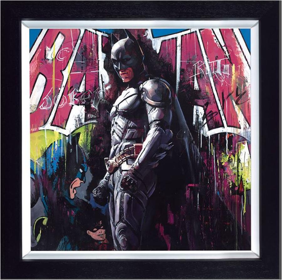 Gotham Hero by Zinsky Framed Art Print