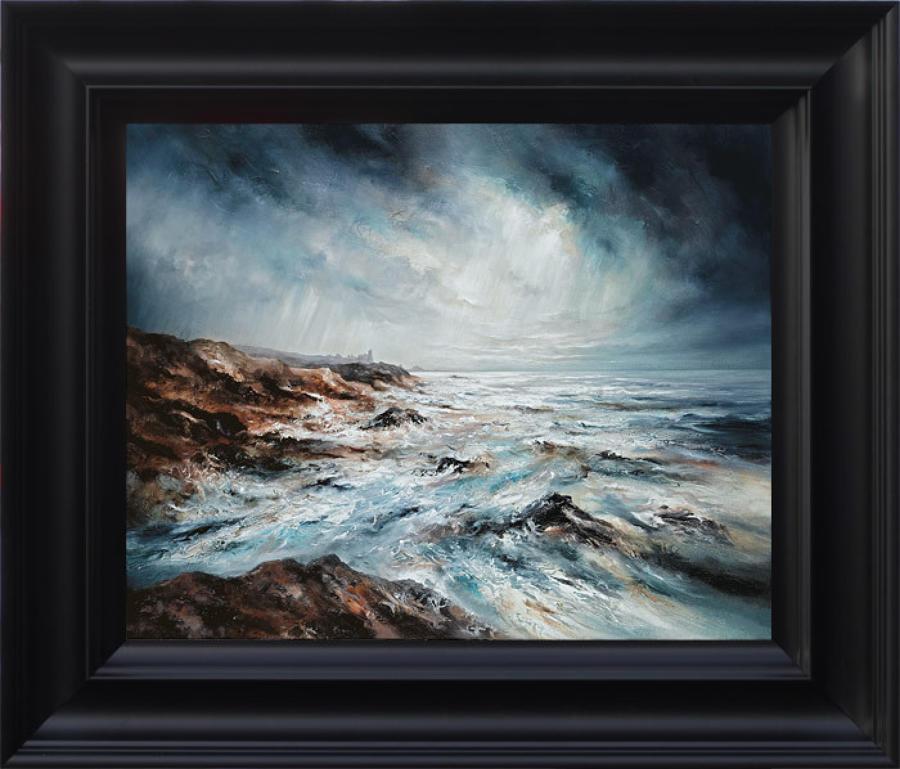 Chris & Steve Rocks -Perfect Storm - Framed Canvas Art Print