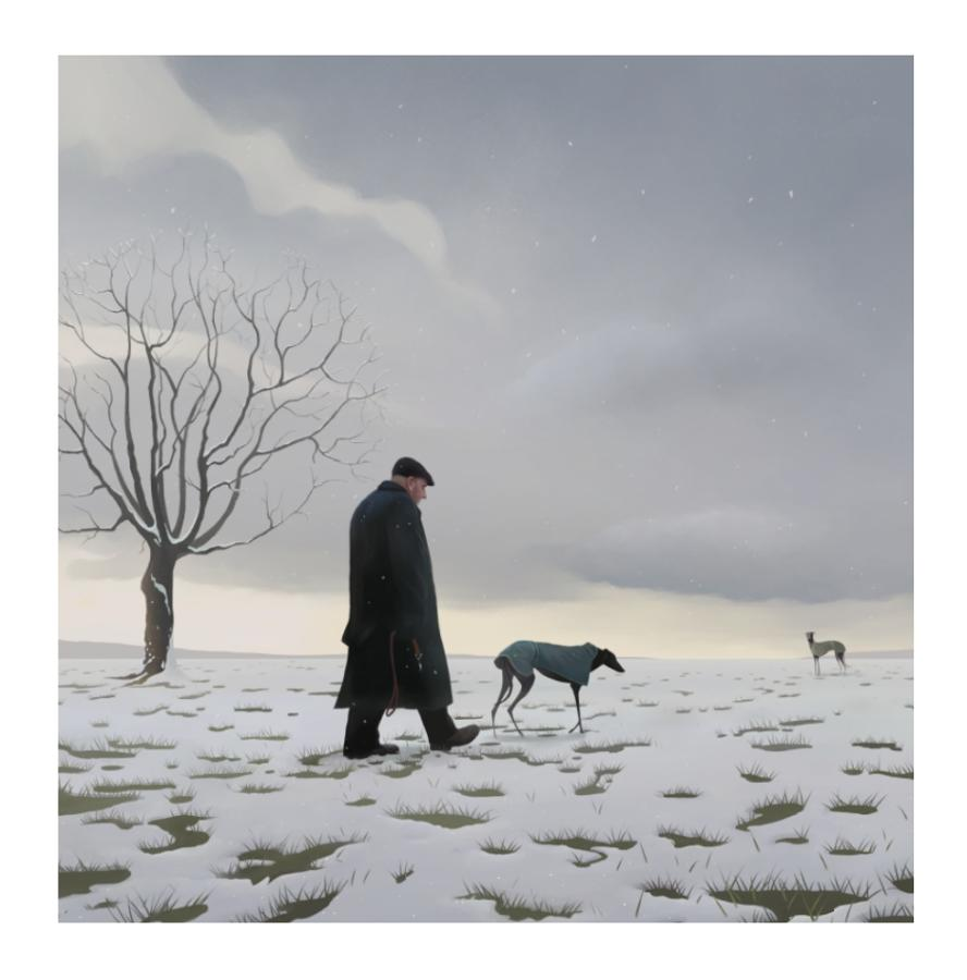 The Greyhound Man Art Print by Stephen Hanson