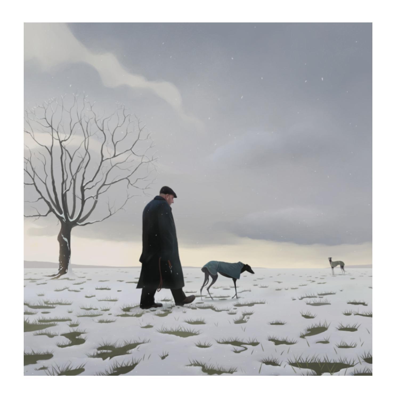 The Greyhound Man Art Print by Stephen Hanson