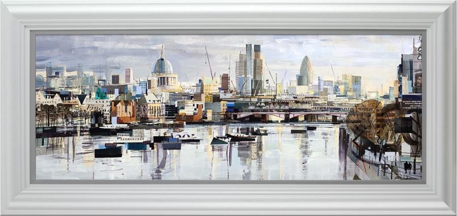 Silver City by Tom Butler- Framed Art Print
