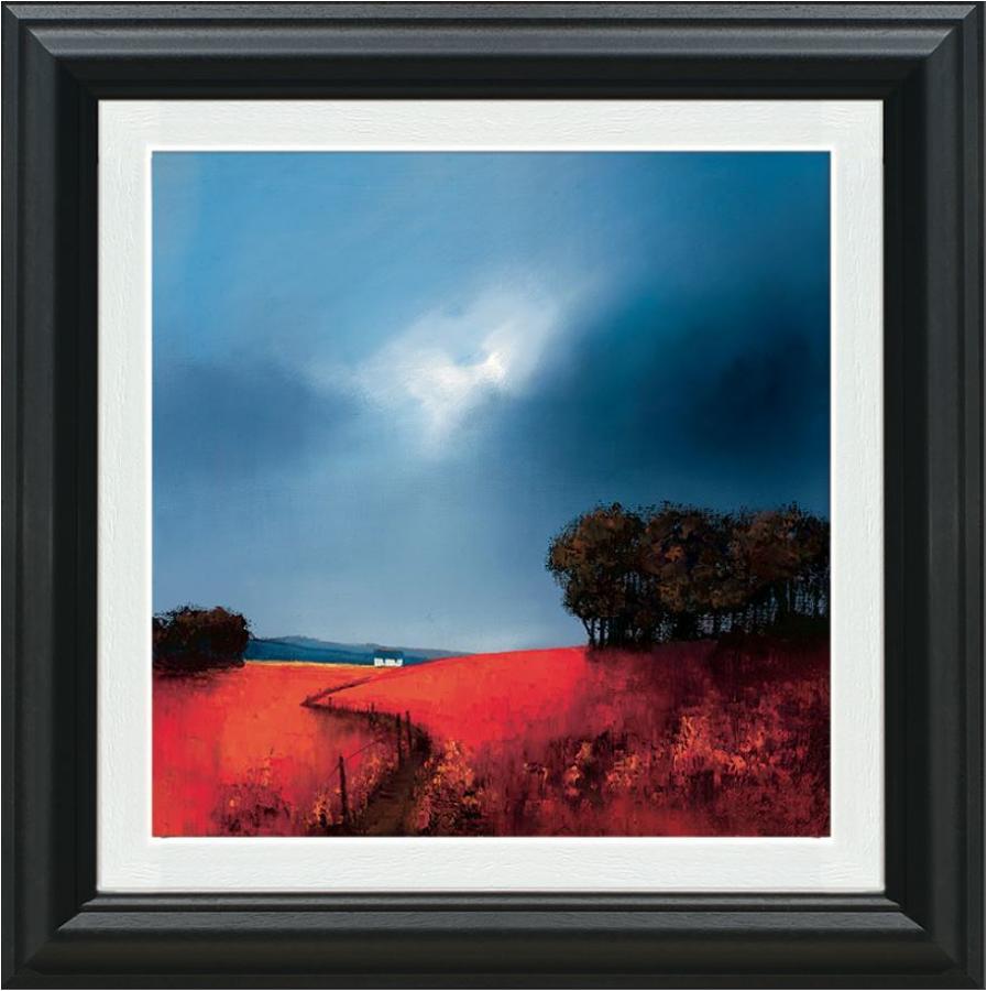 Barry Hilton Crimson Fields of Home Framed Canvas Art Print