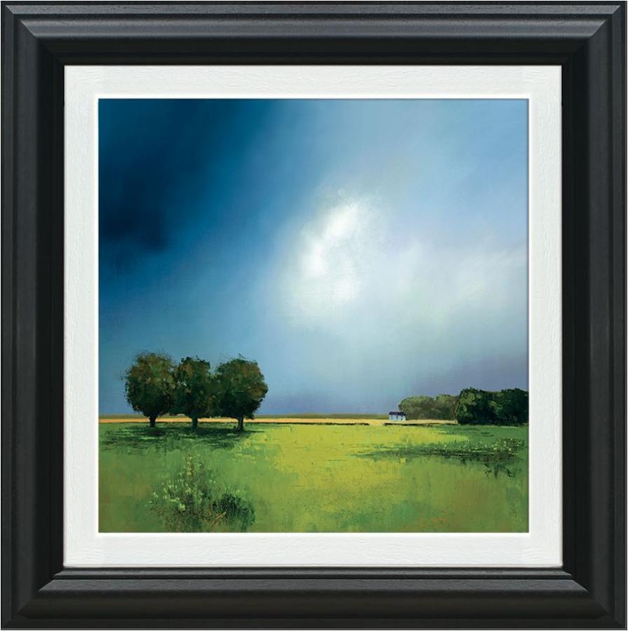 Barry Hilton Green Fields of Home Framed Canvas Art Print