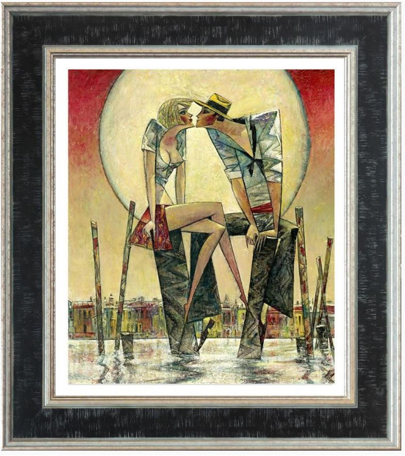 Andrei Protsouk Lunar Love Framed canvas Art Print