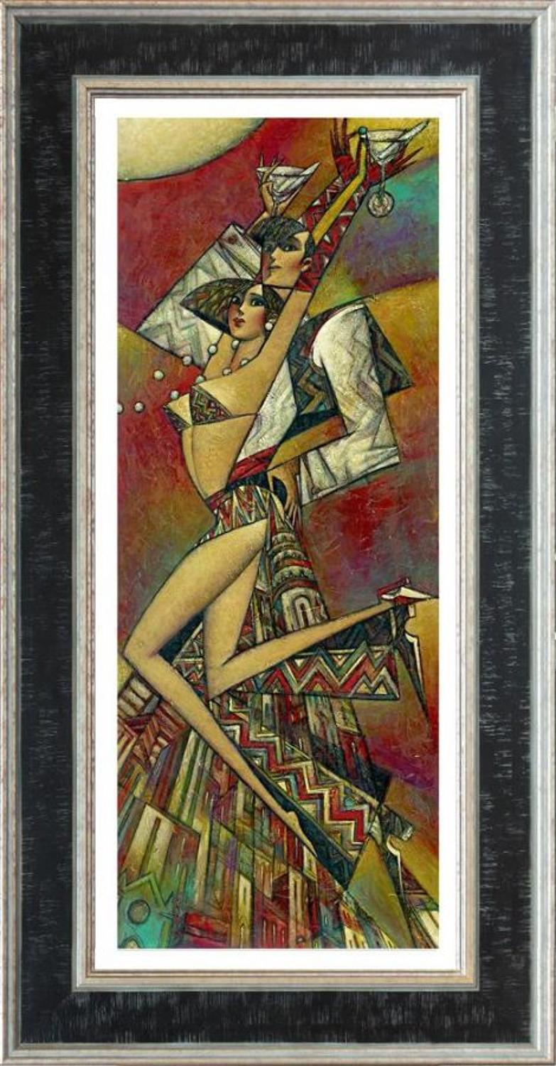 Andrei Protsouk Uptown Martini  Framed Canvas Art Print