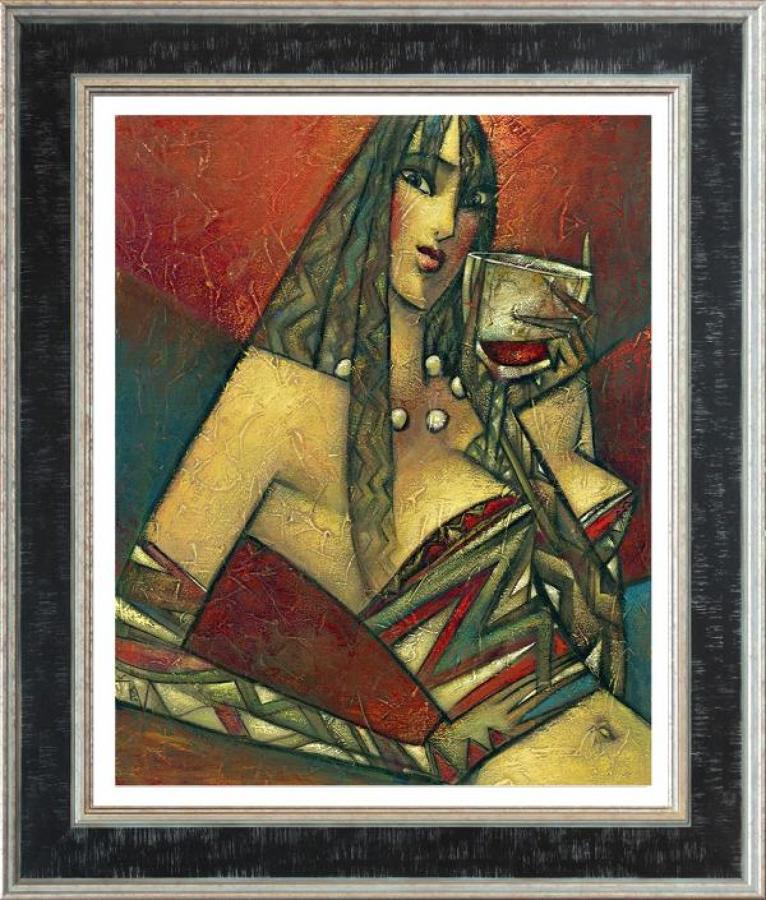 Andrei Protsouk Pinot Noir Framed Canvas Art Print