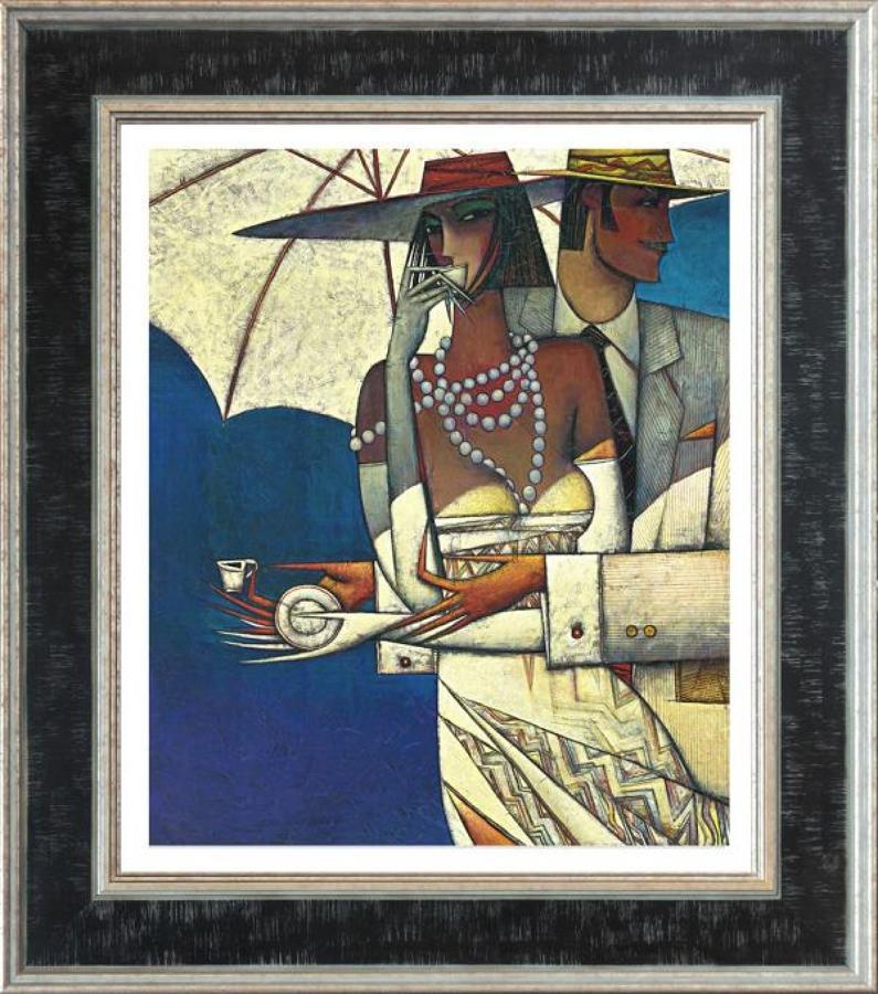 Andrei Protsouk Paradis Latté Framed Canvas Art Print