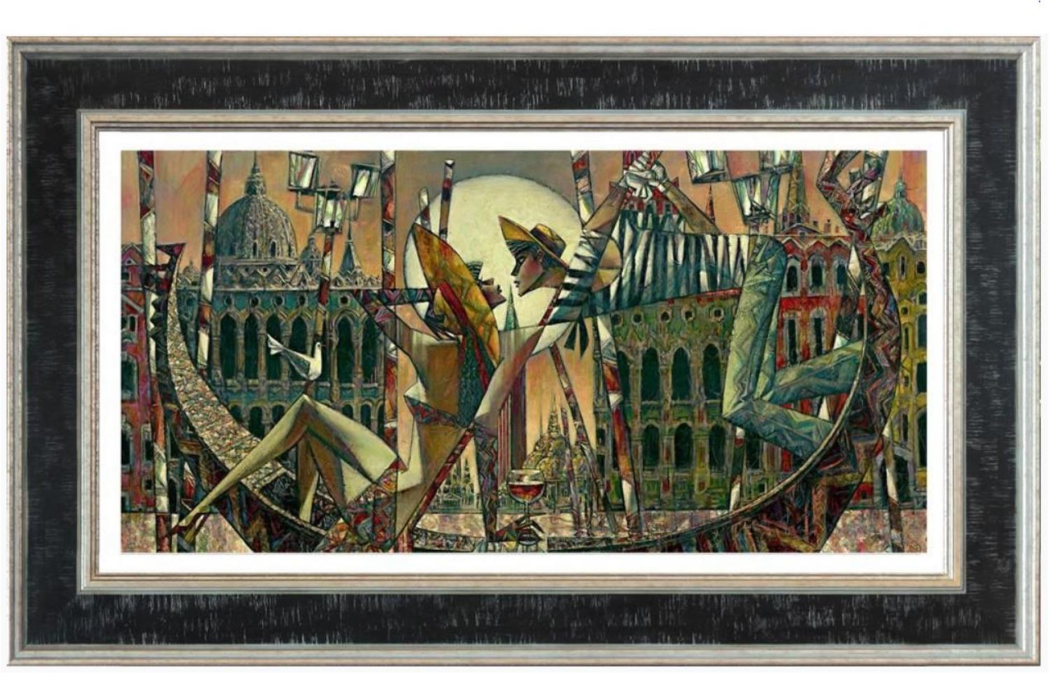 Andrei Protsouk Love In Venice Framed Canvas Art Print