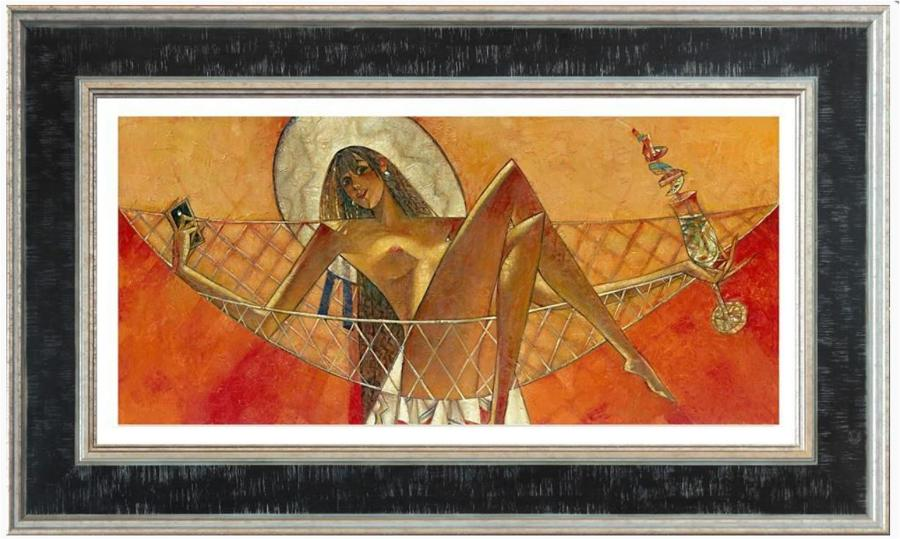 Andrei Protsouk Inter-Nets Framed Canvas Art Print