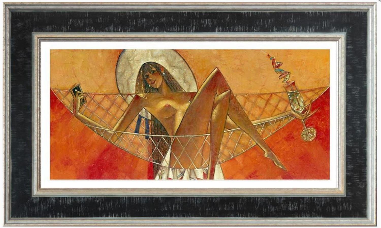 Andrei Protsouk Inter-Nets Framed Canvas Art Print