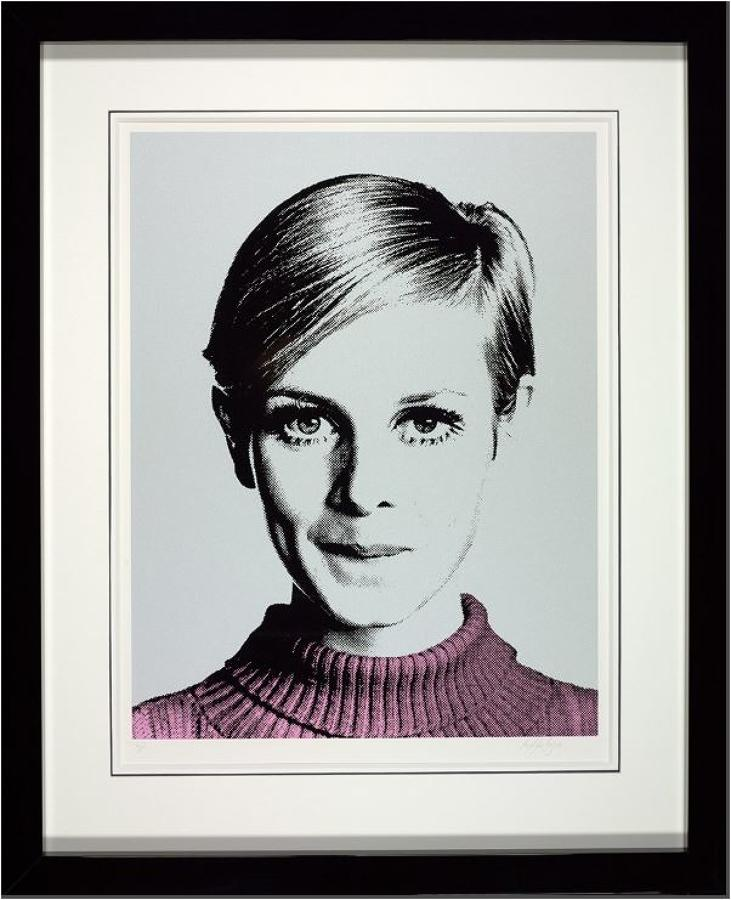 Cover Girl-Twiggy Framed Art Print by Nuala Mulligan
