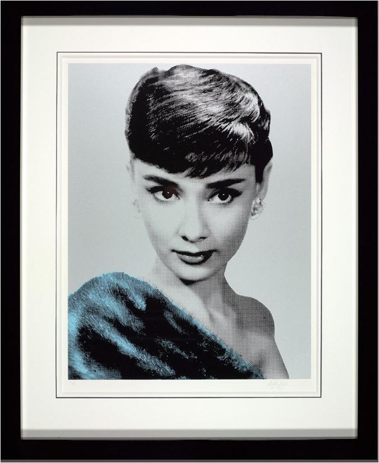 Beauty Queen-Audrey Hepburn Art Print by Nuala Mulligan
