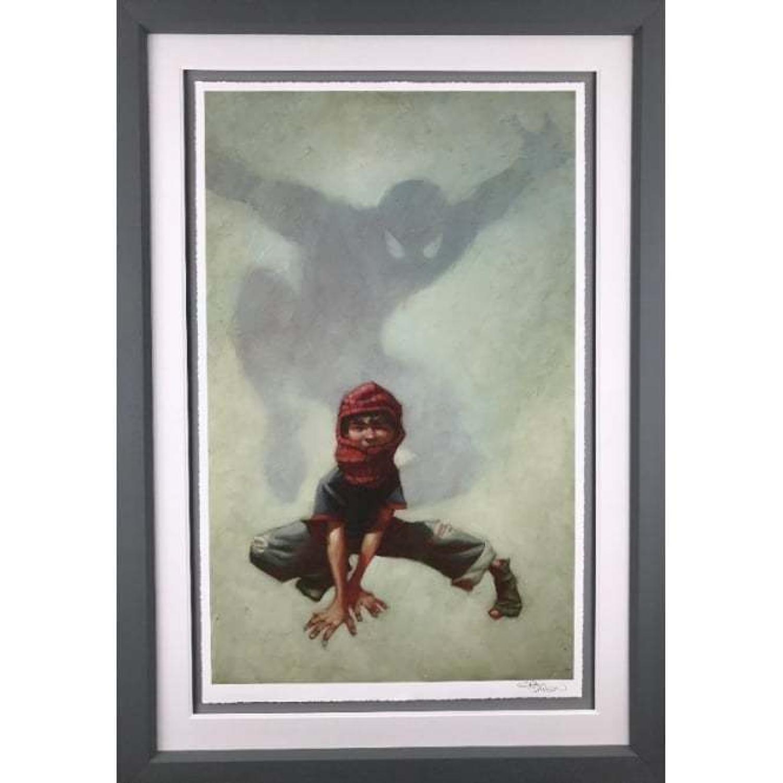 Web Head (Spider Man) Framed Art Print by Craig Davison