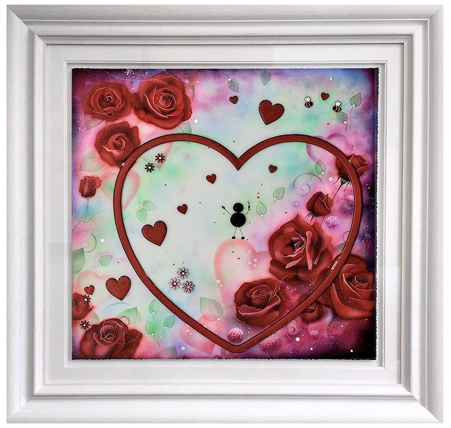 ''Love You This Much'' Framed Art Print By Kealey Farmer