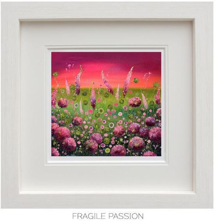 Fragile Passion Framed Art Print by Leanne Christie