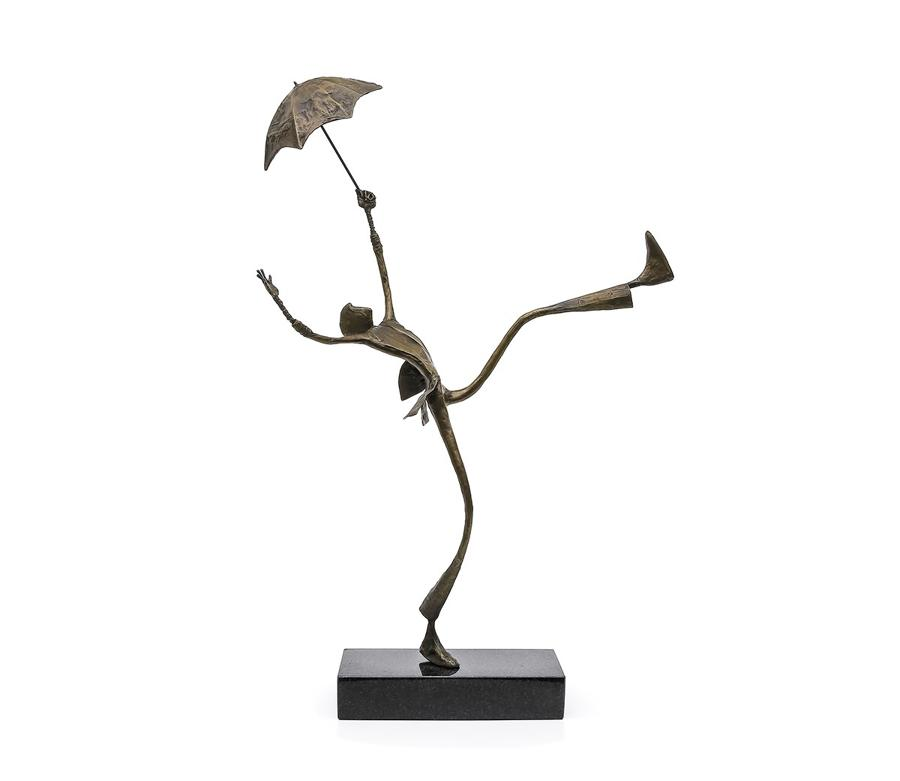 Ed Rust - Shooting the Breeze - Solid Bronze Sculpture