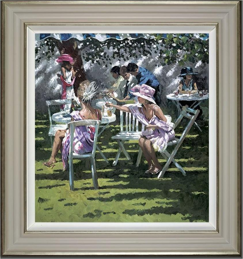 Champagne in the Shadows Framed Art Print by Sherree Valentine Daines