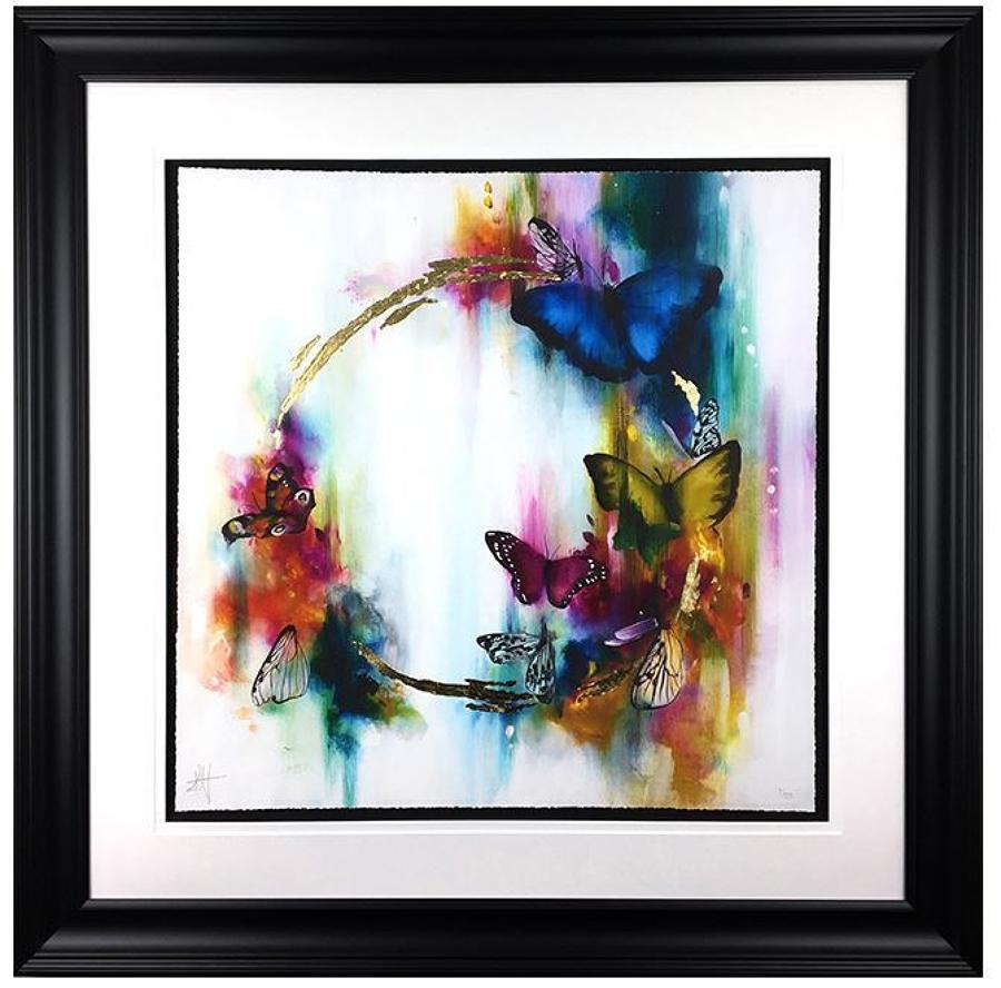 Festoon Framed Art Print by Katy Jade Dobson