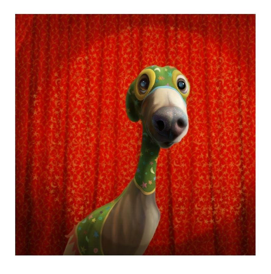 Super Whippet Art Print by Stephen Hanson