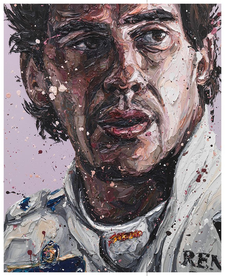 Paul Oz - Senna Williams '18 -Framed Art Print