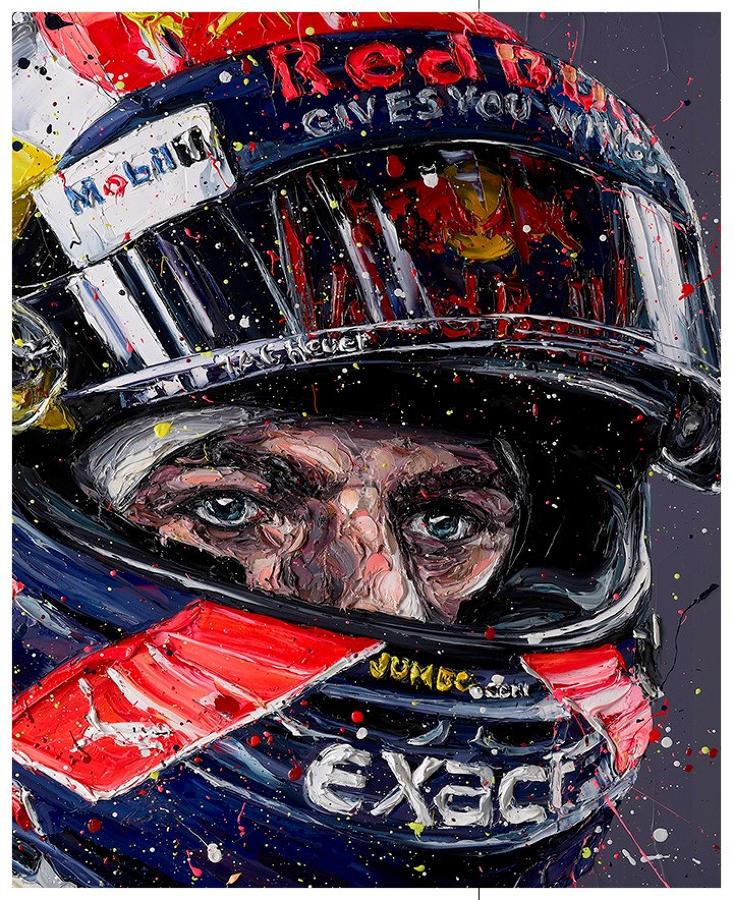 Paul Oz - Simply Lovely (Max Verstappen) - Framed Box Canvas