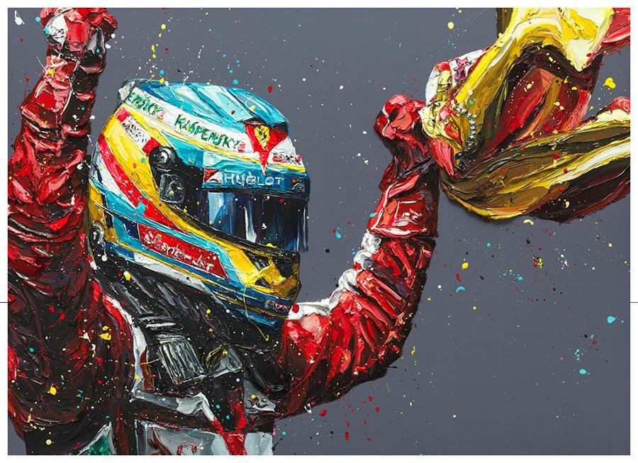 PAUL OZ - Alonso - Spain 2013 - Framed Box Canvas