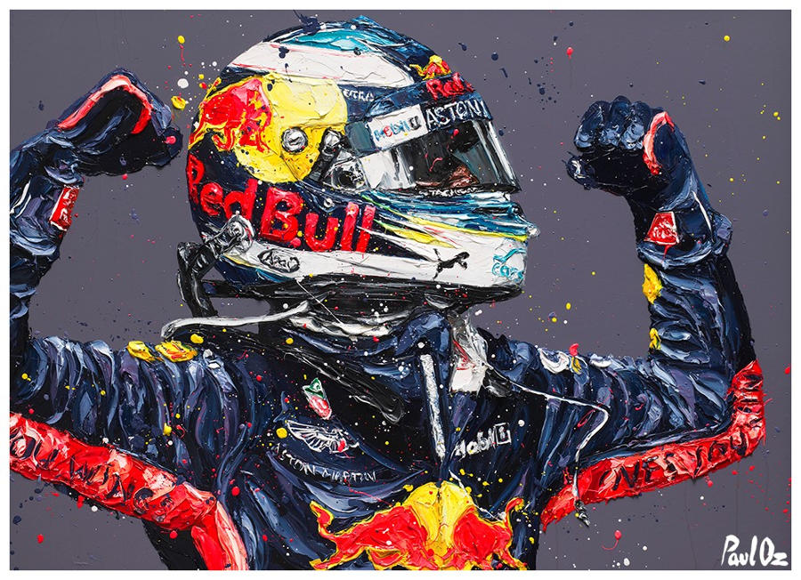 Paul Oz - Ricciardo Retribution - Monaco '18 - Framed Box Canvas
