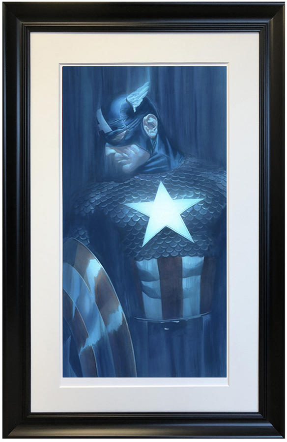 Alex Ross-Captain America - Framed Art Print