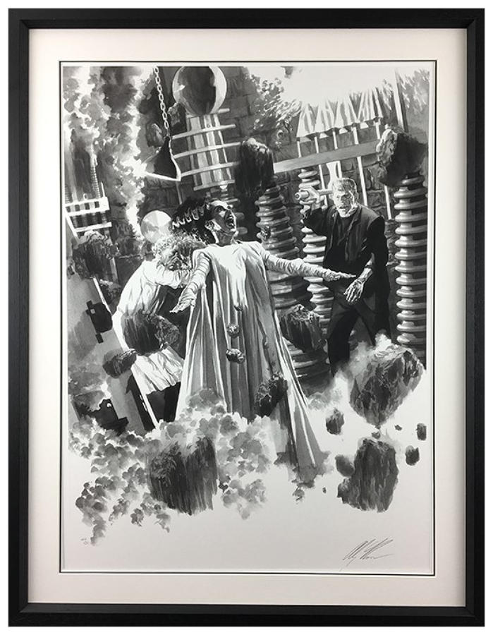 Alex Ross - The Bride of Frankenstein- Framed Art Print