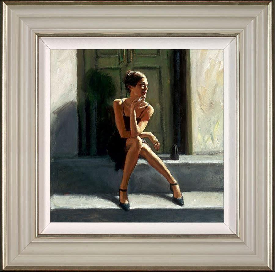 Fabian Perez-Waiting for the Romance to Come Back - Lucy Framed Art