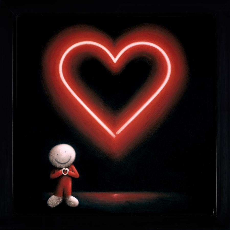 Doug Hyde The Message of Love Framed Art Print