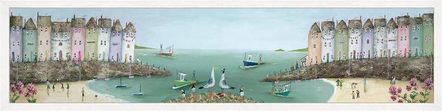 Collecting Shells Art Print by Rebecca Lardner