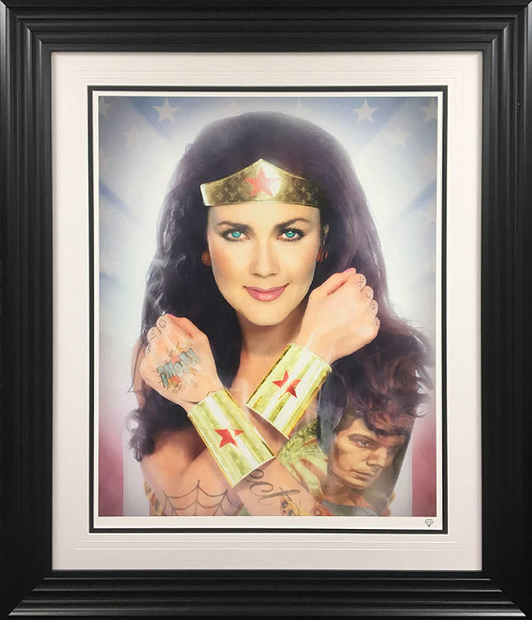 JJ Adams - Wonder Woman Colour - Framed Art Print