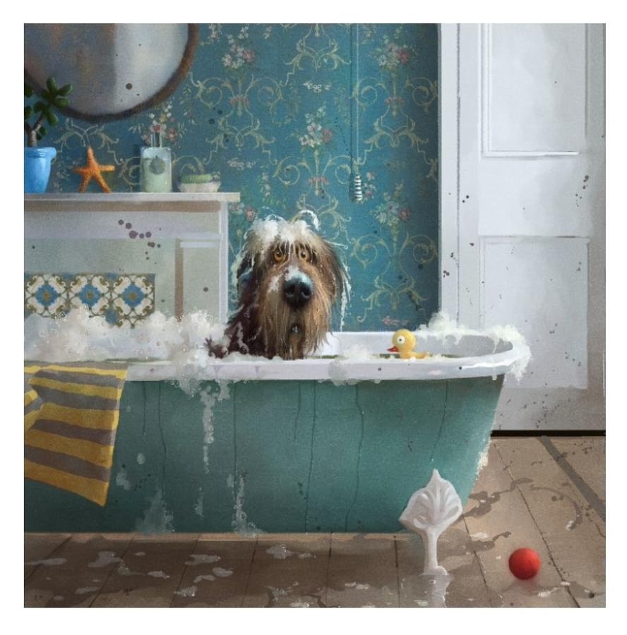 Stephen Hanson Bath Time Art Print