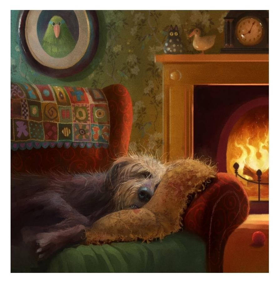 Stephen Hanson- Dog Tired Art Print