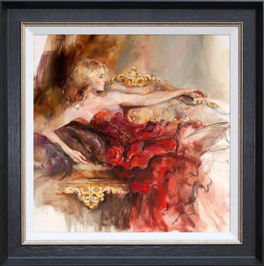 Anna Razumovskaya English Rose Framed Canvas Art Print