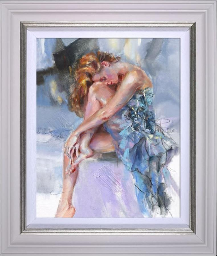 Anna Razumovskaya Time Goes Slowly Framed Canvas Art Print