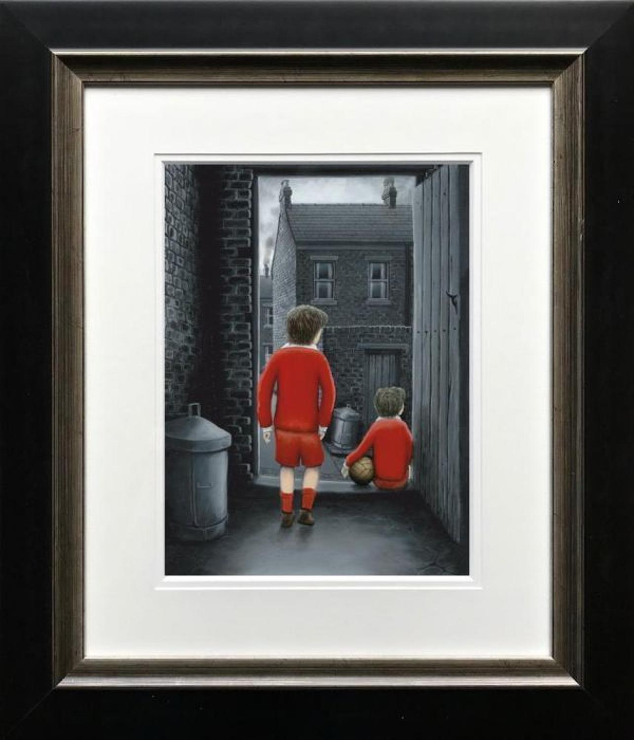 I Hope You've Got Your Scoring Boots On Art Print by Leigh Lambert