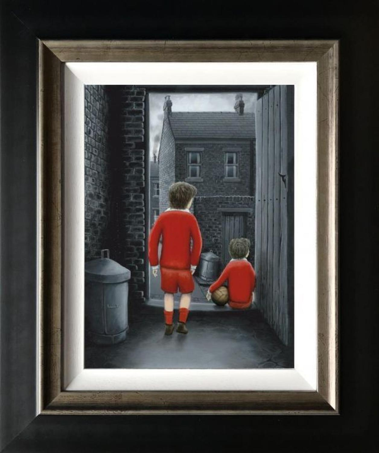 I Hope You've Got Your Scoring Boots Canvas Print by Leigh Lambert