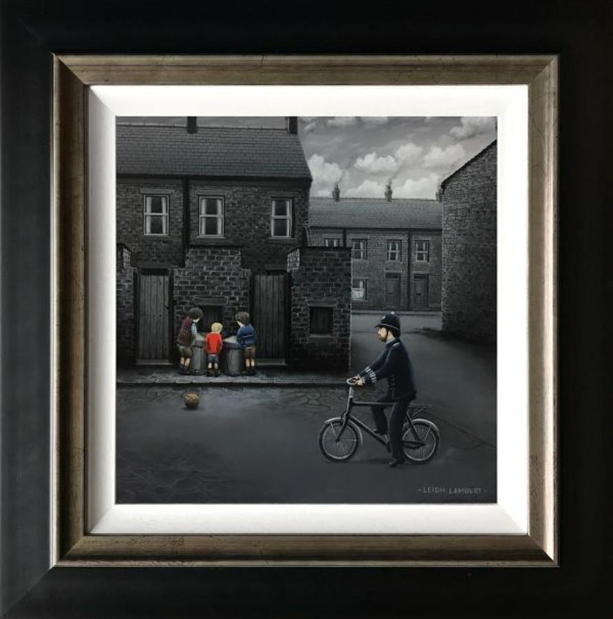 Ello, Ello, Ello, Framed Canvas Art Print by Leigh Lambert