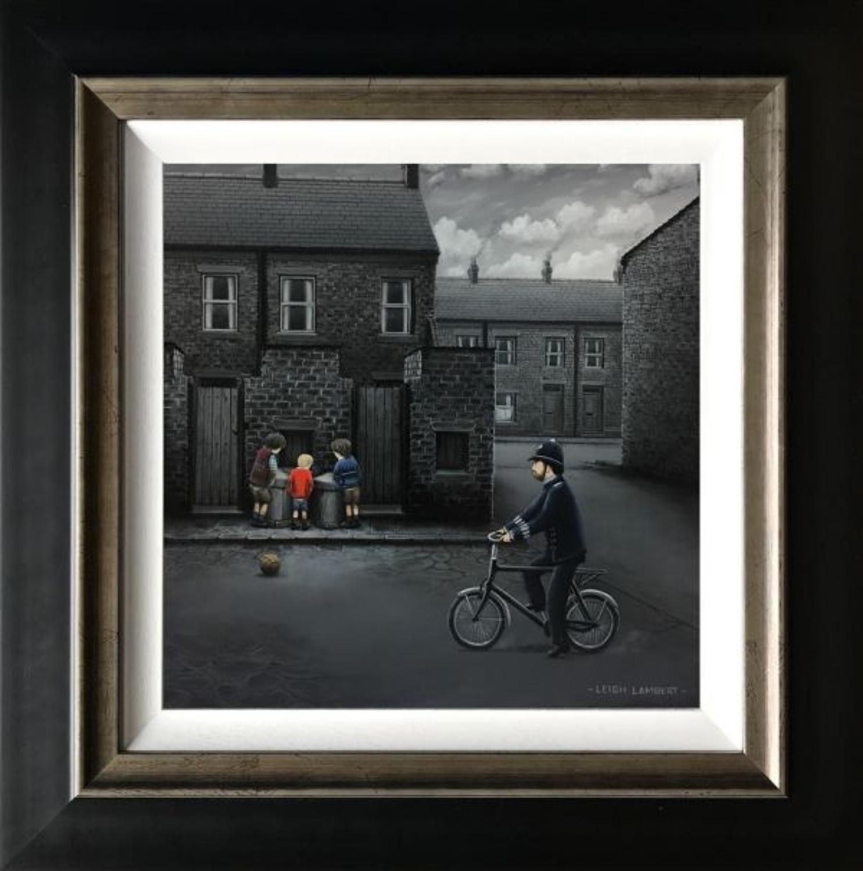 Ello, Ello, Ello, Framed Canvas Art Print by Leigh Lambert
