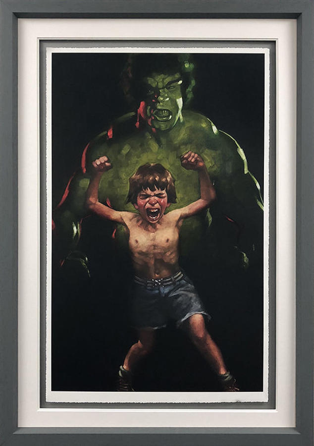 Incredible Hulk Framed Art Print Craig Davison