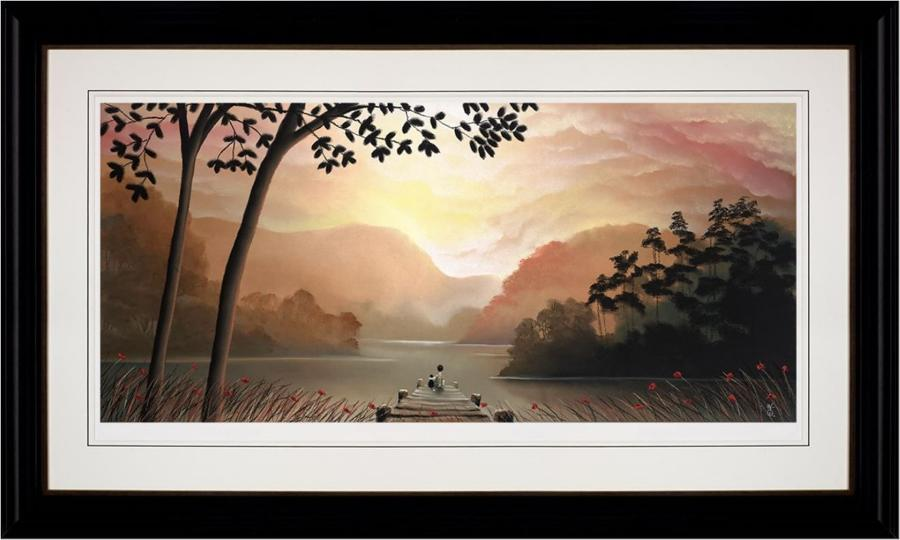 Whispering Waters Framed Art Print by Mackenzie Thorpe