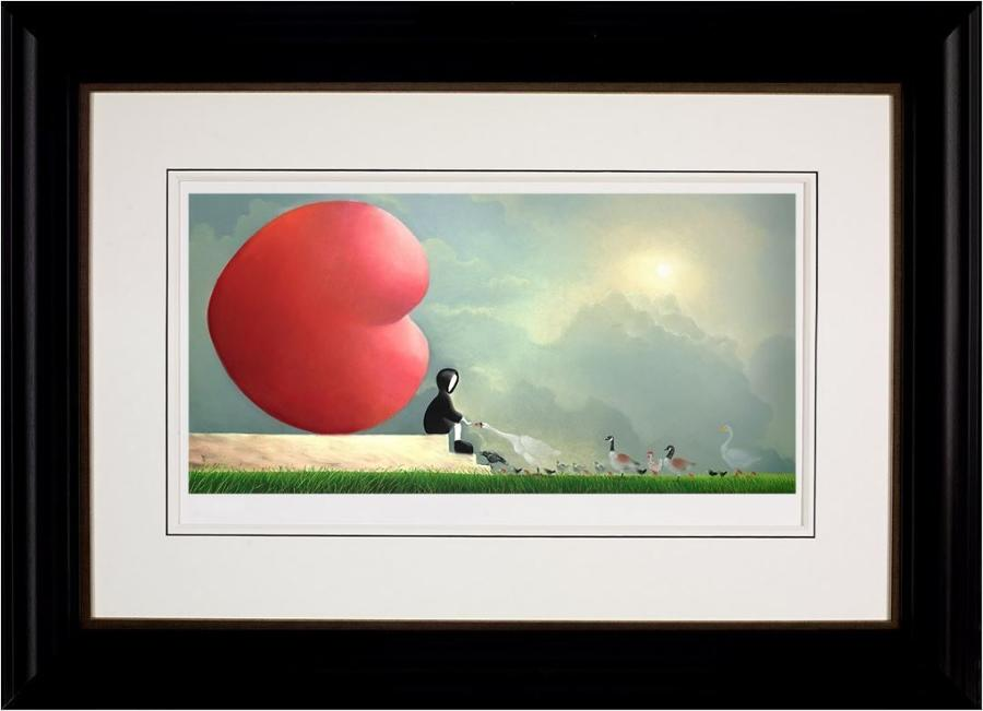 Feed The Birds Framed Art Print by Mackenzie Thorpe
