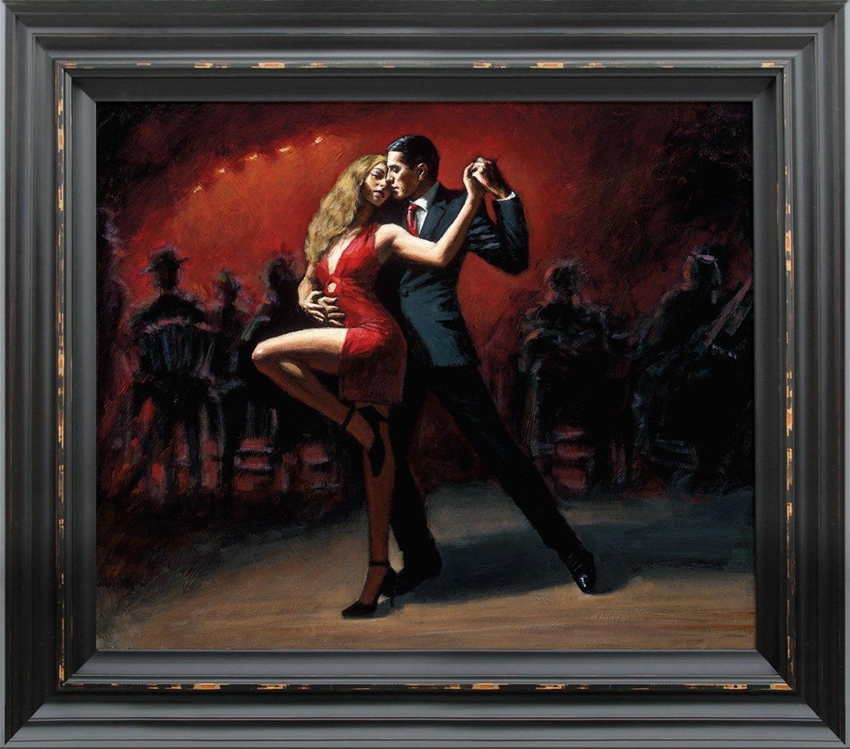 Fabian Perez - Tango en San Telmo - Framed Canvas Art Print