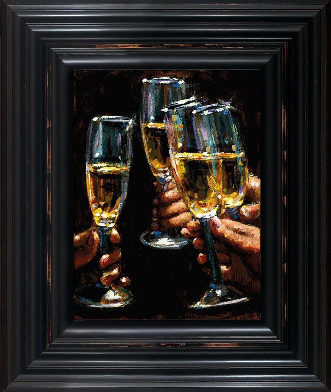 Fabian Perez - Brindis Con Champagne -  Framed Art Print