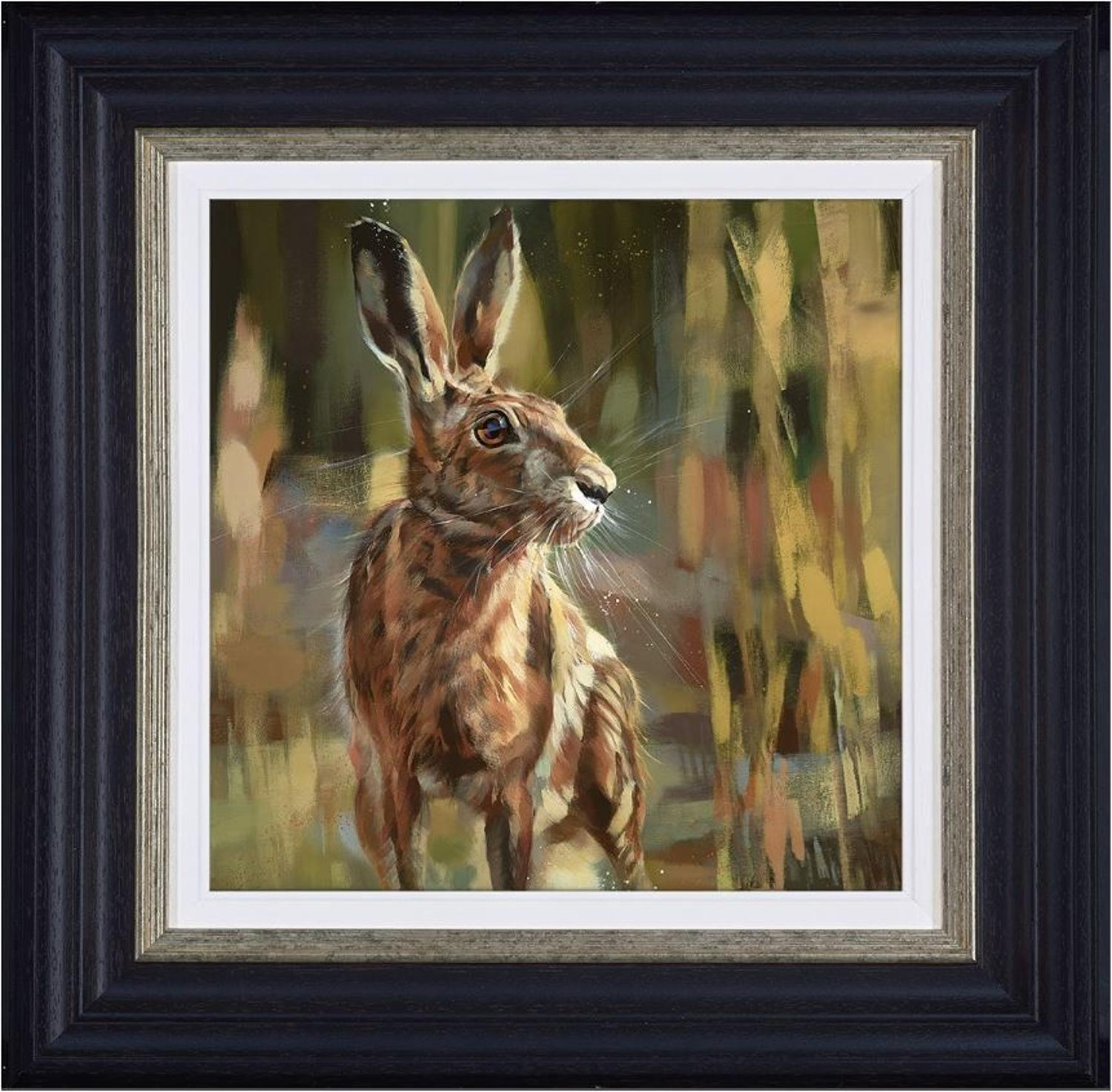 Poised for Action Framed Canvas Art Print by Debbie Boon