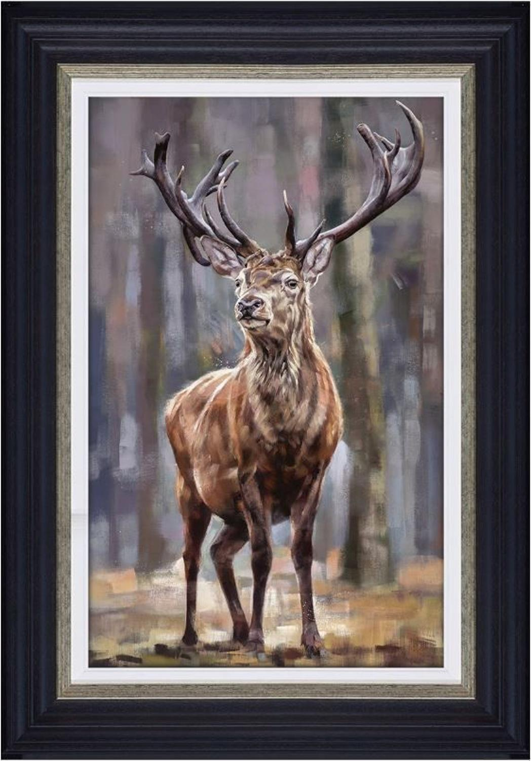 Standing Tall Framed Canvas Art Print by Debbie Boon