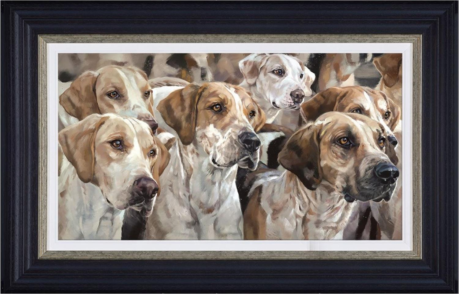 Awaiting Command Framed Canvas Art Print by Debbie Boon