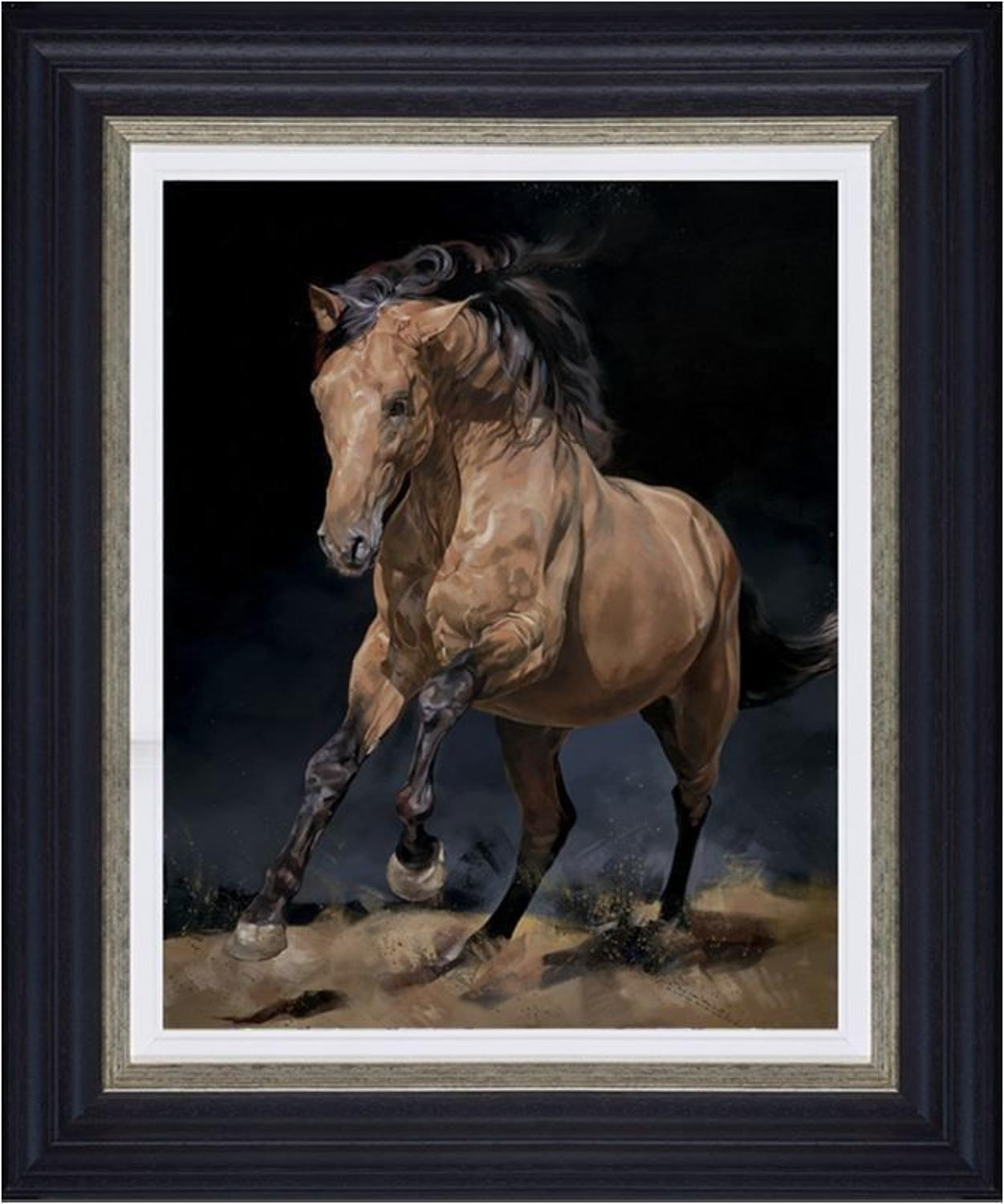 Chasing the Wind Framed Canvas Art Print by Debbie Boon